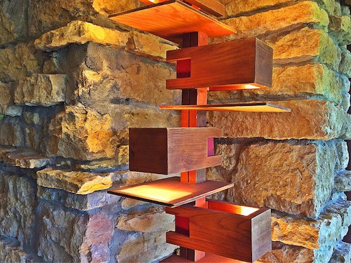 Frank Lloyd Wright interior shelf