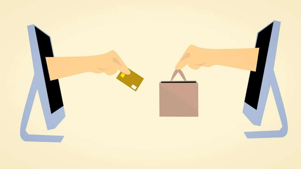 e-commerce exchange of credit card and product