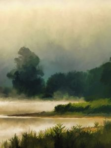 Landscape oil painting for appraisal