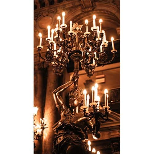 French patinated bronze figural female candelabra
