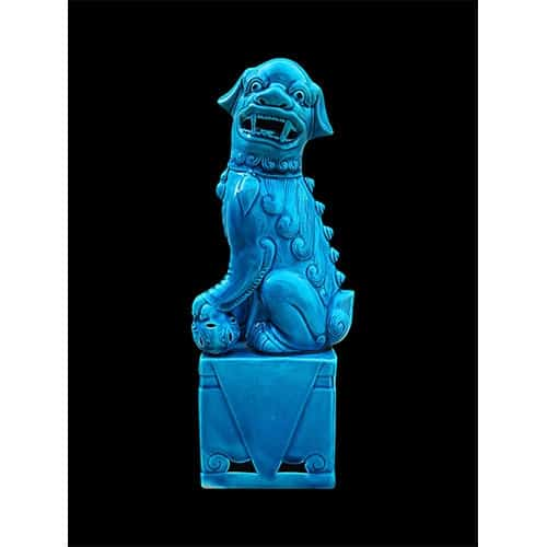 Antique Chinese blue Foo dog appraisal