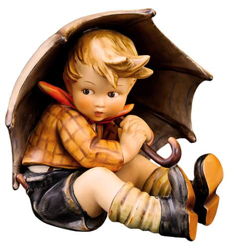 Hummel figure of boy with umbrella appraisal