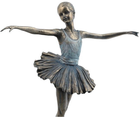 Patinated bronze figure of a young ballerina for appraisal