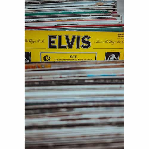 Collection of vinyl records valuation