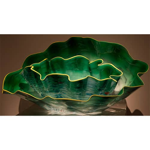 Dale Chihuly green art glass sculpture