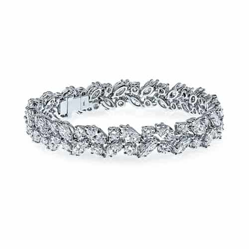White gold and diamond ladies bracelet at auction