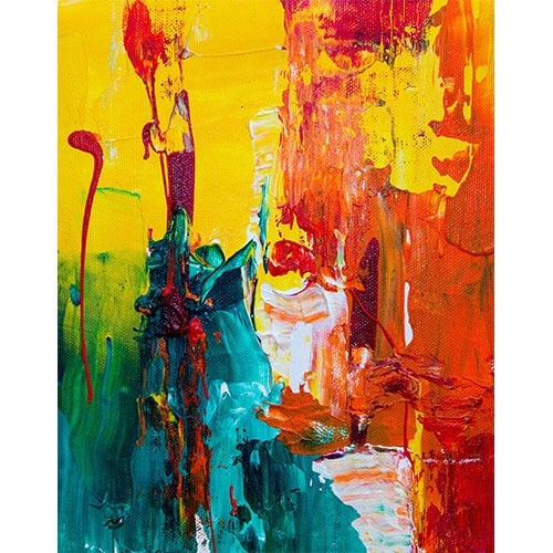Abstract oil painting modern art appraisal at e-ValueIt