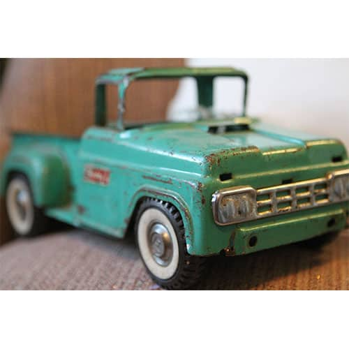 Antique cast iron toy truck